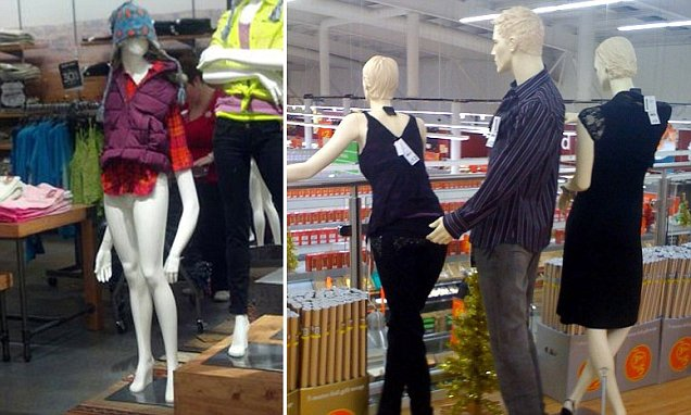 Funny photos of mannequins appearing to twerk and grope each other