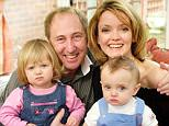 The entertainer with his fourth wife Sarah and their two children Kitty and Shenton at their home in Poulton, Gloucestershire. His wife paid tribute to her husband calling him her 'rock'