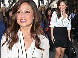 April 28, 2015:  Vanessa Lachey at NBC Studios in New York City during an appearance on 'The Today Show'.\nMandatory Credit: Dara Kushner/INFphoto.com      Ref.: infusny-05/42