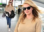 Mandatory Credit: Photo by Beretta/Sims/REX Shutterstock (4724892l)  Kate Upton  Kate Upton at Heathrow Airport, London, Britain - 28 Apr 2015