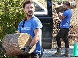 Picture Shows: Shia LaBeouf  April 27, 2015    'Fury' actor Shia LaBeouf is spotted out picking up some logs at the TreePeople Park in Studio City, California. Shia didn't give a reason for picking up the logs.    Exclusive - All Round  UK RIGHTS ONLY    Pictures by : FameFlynet UK © 2015  Tel : +44 (0)20 3551 5049  Email : info@fameflynet.uk.com
