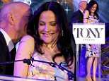 NEW YORK, NY - APRIL 28:  Actors Bruce Willis (L) and Mary-Louise Parker speak onstage at the 2015 Tony Awards Nominations Announcement at the Diamond Horseshoe at the Paramount Hotel on April 28, 2015 in New York City.  (Photo by Jemal Countess/Getty Images for Tony Awards Productions)