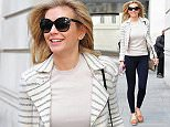 Picture Shows: Rachel Riley  April 28, 2015    Presenter Rachel Riley is all smiles as she leaves the BBC studios in London, England.    Rachel kept her look classic in a pair of navy trousers paired with a cream top, striped blazer, and brown loafers. She finished her look with a pair of sunglasses and glittery shoulder bag.    Non Exclusive  WORLDWIDE RIGHTS    Pictures by : FameFlynet UK © 2015  Tel : +44 (0)20 3551 5049  Email : info@fameflynet.uk.com