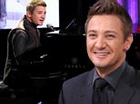 """THE TONIGHT SHOW STARRING JIMMY FALLON -- Episode 0251 -- Pictured: Actor Jeremy Renner during the """"Hawkeye Sings"""" bit on April 28, 2015 -- (Photo by: Douglas Gorenstein/NBC/NBCU Photo Bank via Getty Images)"""