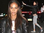 Joans Smalls was seen leaving The Polo Bar after having dinner with friends. After several failed attempts Joan was able to hail a taxi cab by waving her shiny Tom Ford sneakers instead of her hand and it worked.   Pictured: Joan Smalls Ref: SPL1011977  290415   Picture by: Blayze / Splash News  Splash News and Pictures Los Angeles: 310-821-2666 New York: 212-619-2666 London: 870-934-2666 photodesk@splashnews.com