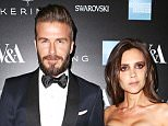 David Beckham (L) and Victoria Beckham arrive at the Alexander McQueen: Savage Beauty Fashion Gala at the V&A, presented by American Express and Kering on March 12, 2015 in London, England.  (Photo by David M. Benett/Getty Images for Victoria and Albert Museum)