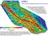 A new California earthquake forecast by the U.S. Geological Survey and partners revises scientific estimates for the chances of having large earthquakes over the next several decades.   The Third Uniform California Earthquake Rupture Forecast, or UCERF3, improves upon previous models by incorporating the latest data on the state?s complex system of active geological faults, as well as new methods for translating these data into earthquake likelihoods.   The study confirms many previous findings, sheds new light on how the future earthquakes will likely be distributed across the state and estimates how big those earthquakes might be.   Compared to the previous assessment issued in 2008, UCERF2, the estimated rate of earthquakes around magnitude 6.7, the size of the destructive 1994 Northridge earthquake, has gone down by about 30 percent. The expected frequency of such events statewide has dropped from an average of one per 4.8 years to about one per 6.3 years.   However, in the new st