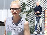 Picture Shows: Gwen Stefani  April 28, 2015    Singer, Gwen Stefani, stops by a friends house for a visit in Sherman Oaks, California.     It's been announced that Gwen will be returning to 'The Voice' as a judge next season.    Exclusive - All Round  UK RIGHTS ONLY    Pictures by : FameFlynet UK © 2015  Tel : +44 (0)20 3551 5049  Email : info@fameflynet.uk.com