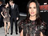 """Pictured: Paul Bettany, Jennifer Connelly Mandatory Credit © Jack Shea/Starshots/Broadimage The Cinema Society & Audi Host A Screening Of Marvel's """"Avengers: Age Of Ultron"""" - Outside Arrivals  4/28/15, New York, New York, United States of America  Broadimage Newswire Los Angeles 1+  (310) 301-1027 New York      1+  (646) 827-9134 sales@broadimage.com http://www.broadimage.com"""