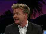 Gordon Ramsay appears on 'The Late Late Show with James Corden.' Ramsey and Corden talk about Ramsey's sleeping habits. Ramsey says he only sleeps four hours a night.  Corden pokes fun and says, maybe that's why you're always so grumpy. Corden goes on to congratulate Ramsey on his 500th episode of 'Hell's Kitchen.'  As seen on CBS Featuring: Gordon Ramsay Where: United States When: 27 Apr 2015 Credit: Supplied by WENN.com **WENN does not claim any ownership including but not limited to Copyright, License in attached material. Fees charged by WENN are for WENN's services only, do not, nor are they intended to, convey to the user any ownership of Copyright, License in material. By publishing this material you expressly agree to indemnify, to hold WENN, its directors, shareholders, employees harmless from any loss, claims, damages, demands, expenses (including legal fees), any causes of action, allegation against WENN arising out of, connected in any way with publication of the material.