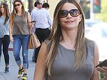 Picture Shows: Sofia Vergara  April 28, 2015    Actress Sofia Vergara is seen visiting Thibiant Beverly Hills to shop for beauty products with a friend in Beverly Hills, California.     Sofia dressed casually for the outing in a grey top, blue distressed jeans and yellow sneakers.    Exclusive - All Round  UK RIGHTS ONLY    Pictures by : FameFlynet UK © 2015  Tel : +44 (0)20 3551 5049  Email : info@fameflynet.uk.com