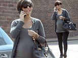 EXCLUSIVE: Heavily pregnant Frankie Sandford meets up with some friends, out and about in South West London, UK  Pictured: Frankie Sandford Ref: SPL1009244  280415   EXCLUSIVE Picture by: MK / Splash News  Splash News and Pictures Los Angeles: 310-821-2666 New York: 212-619-2666 London: 870-934-2666 photodesk@splashnews.com