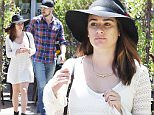 Picture Shows: Lea Michele  April 28, 2015\n \n 'Glee' actress Lea Michele is spotted enjoying lunch with her boyfriend Matthew Paetz at Food Lab in West Hollywood, California. The couple are in the midst of celebrating their one year anniversary together as Lea met Matthew on the set of a video last April. \n \n Exclusive All Rounder\n UK RIGHTS ONLY\n \n Pictures by : FameFlynet UK © 2015\n Tel : +44 (0)20 3551 5049\n Email : info@fameflynet.uk.com