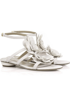 Valentino�Flower leather sandals