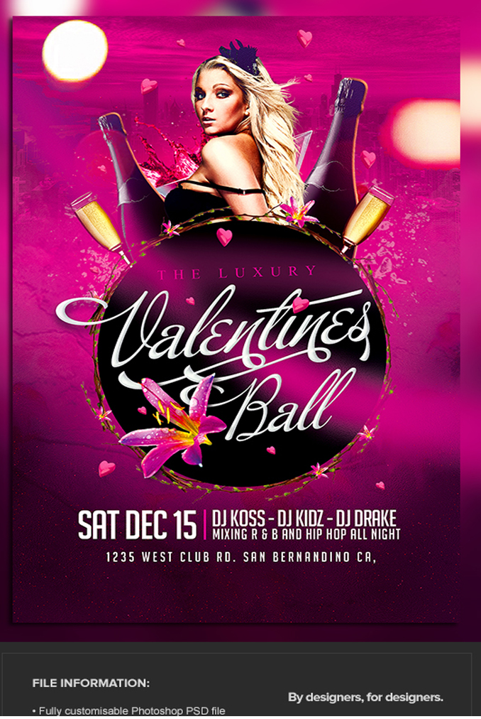 The Luxury Valentine's Ball Flyer Template