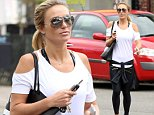 Alex Gerrard, wife of Liverpool and soon to be LA Galaxy soccer player Steven Gerrard, heads back to her car after a gym session in Liverpool.\n30 April 2015.\nPlease byline: Peter Goddard/Vantagenews.co.uk