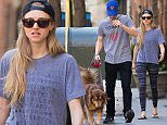 EXCLUSIVE: Amanda Seyfried and her boyfriend Justin Long seen walking Amanda's dog Finn in the West Village, NYC.  Pictured: Amanda Seyfried and Justin Long Ref: SPL1010837  290415   EXCLUSIVE Picture by: TMNY / Splash News  Splash News and Pictures Los Angeles: 310-821-2666 New York: 212-619-2666 London: 870-934-2666 photodesk@splashnews.com