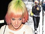 EXCLUSIVE Lily Allen is seen out in Notting Hill, Lily was seen shopping in Dinny Hall jewellery shop before grabbing a coffee at the Daylesford cafe. 29 April 2015. Please byline: Vantagenews.co.uk