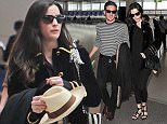 Liv Tyler and David Gardner pictured arriving at Gatwick airport ahead of David Beckhams 40th birthday in Marakesh 1 May 2015. Please byline: KP/Vantagenews.co.uk