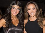"""GARFIELD, NJ - NOVEMBER 11:  Teresa Giudice and Melissa Gorga attend the """"Goddess Night Out"""" event benefiting Project Lady Bug hosted by Dina Manzo on November 11, 2013 in Garfield, New Jersey.  (Photo by Dave Kotinsky/Getty Images)"""