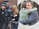 Pic Paul Cousans/Zenpix .. Corrie............... Jenny Bradley is cuffed in the latest scenes shot today. Arrested by cops for the abduction Kevin Websters'son Jack she is led away by cops in tears but pleads with kevin before she is bundled into a waiting police car.