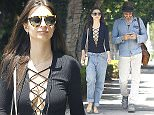 Picture Shows: Emily Ratajkowski  April 30, 2015    Emily Ratajkowski is spotted out for a stroll with a friend in Los Angeles, California. Emily was rocking a very low cut shirt showing off some cleavage!     Exclusive All Rounder  UK RIGHTS ONLY  Pictures by : FameFlynet UK © 2015  Tel : +44 (0)20 3551 5049  Email : info@fameflynet.uk.com