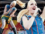 NEW ORLEANS, LA - MAY 01:  Gwen Stefani of No Doubt performs at Fair Grounds Race Course on May 1, 2015 in New Orleans, Louisiana.  (Photo by Erika Goldring/Getty Images)