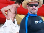 Kona, HI - Hugh Jackman continues his holiday vacation and goes for a ride on traditional Hawaiian Sailing Canoe with his son Oscar. The ride appeared to be smooth sailing for the father-son duo. Hugh then cooled off in the ocean before heading inland for a bite with the family.\n \nAKM-GSI   May 1, 2015\nTo License These Photos, Please Contact :\n Steve Ginsburg\n (310) 505-8447\n (323) 423-9397\n steve@akmgsi.com\n sales@akmgsi.com\n \n or\n \n Maria Buda\n (917) 242-1505\n mbuda@akmgsi.com\n ginsburgspalyinc@gmail.com