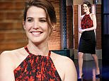 LATE NIGHT WITH SETH MEYERS -- Episode 199 -- Pictured: Actress Cobie Smulders arrives on April 30, 2015 -- (Photo by: Lloyd Bishop/NBC/NBCU Photo Bank)
