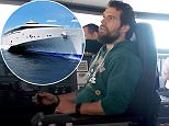 This is the moment Superman star Henry Cavill took to the Lois shipping Lane - and was handed controls of a FERRY on his way home. See SWNS story SWFERRY;  The Hollywood actor took over the wheel of Condor's Liberation ferry after dropping in to visit the captain in the ship's bridge as it travelled from England to the island of Jersey. Cavill was born on the island and went on to star in Man of Steel and will reprise his role in Batman v Superman: Dawn of Justice next year. But he took a break from filming to have a go at steering the new £50 million vessel.
