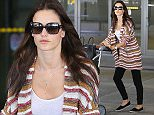 Picture Shows: Alessandra Ambrosio  May 01, 2015    Model Alessandra Ambrosio arriving on a flight at LAX airport in Los Angeles, California.    Non-Exclusive  UK RIGHTS ONLY    Pictures by : FameFlynet UK © 2015  Tel : +44 (0)20 3551 5049  Email : info@fameflynet.uk.com
