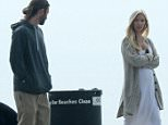 EXCLUSIVE: Brandon and Pregnant Leah Jenner take a walk along Malibu Pier, Leah was looking very happy with her growing baby bump.  Pictured: Brandon Jenner and Pregnant Leah Jenner Ref: SPL1013678  010515   EXCLUSIVE Picture by: Brewer / Johnstone / Splash News  Splash News and Pictures Los Angeles: 310-821-2666 New York: 212-619-2666 London: 870-934-2666 photodesk@splashnews.com