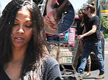 Zoe Saldana and Marco Perego hold hands while grocery shopping\nFeaturing: Zoe Saldana_Marco Perego\nWhere: Los Angeles, California, United States\nWhen: 02 May 2015\nCredit: WENN.com