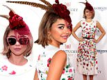 LOUISVILLE, KY - MAY 02:  Actress Sarah Hyland attends the 141st Kentucky Derby at Churchill Downs on May 2, 2015 in Louisville, Kentucky.  (Photo by Neilson Barnard/Getty Images)