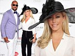 LOUISVILLE, KY - MAY 02:  Hank Baskett (L) and Kendra Wilkinson Baskett attend the 141st Kentucky Derby at Churchill Downs on May 2, 2015 in Louisville, Kentucky.  (Photo by Michael Loccisano/Getty Images for Churchill Downs)