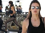Picture Shows: Alessandra Ambrosio  May 02, 2015\n \n Model, Alessandra Ambrosio, goes to a pilates class in Brentwood, California. Alessandra just returned to Los Angeles last night and has already gotten back to her routine. \n \n Non-Exclusive\n UK RIGHTS ONLY\n \n Pictures by : FameFlynet UK © 2015\n Tel : +44 (0)20 3551 5049\n Email : info@fameflynet.uk.com