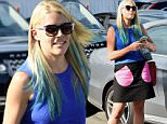 Busy Philipps emerges with a funky new blue hair do at meche salon in los angeles.\nFeaturing: Busy Philipps\nWhere: Los Angeles, California, United States\nWhen: 02 May 2015\nCredit: WENN.com