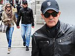 01.MAY.2015 - LONDON - UK **EXCLUSIVE ALL ROUND PICTURES** HOLLYWOOD ACTOR ANTONIO BANDERAS WEARING  DARK SUNGLASSES AND A CAP IS SEEN IN CENTRAL LONDON SHOPPING WITH NICOLE KIMPEL AND DINED AT THE BLUEBIRD RESTAURANT. BYLINE MUST READ : XPOSUREPHOTOS.COM ***UK CLIENTS - PICTURES CONTAINING CHILDREN PLEASE PIXELATE FACE PRIOR TO PUBLICATION *** **UK CLIENTS MUST CALL PRIOR TO TV OR ONLINE USAGE PLEASE TELEPHONE 0208 344 2007**