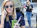 Picture Shows: Reese Witherspoon  May 01, 2015\n \n 'Wild' star Reese Witherspoon picks up her daily green smoothies in Brentwood, California. \n \n The pint-sized actress has been busy as of late promoting her new comedy 'Hot Pursuit', which co-stars Sofia Vergara.\n \n Exclusive All Rounder\n UK RIGHTS ONLY\n Pictures by : FameFlynet UK © 2015\n Tel : +44 (0)20 3551 5049\n Email : info@fameflynet.uk.com