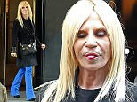 ***MANDATORY BYLINE TO READ INFPhoto.com ONLY*** Fashion designer Donatella Versace photographed in New York City this evening.  Pictured: Donatella Versace Ref: SPL1014489  010515   Picture by: INFphoto.com