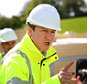 Prime Minister David Cameron talks to engineers during a General Election campaign visit to the development of the Bexhill to Hastings link road in East Sussex. PRESS ASSOCIATION Photo. Picture date: Monday May 4, 2015. See PA story ELECTION Cameron. Photo credit should read: Gareth Fuller/PA Wire