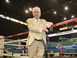 Sports Mail Jeff Powell by The Boxing Ring at the MGM and Garden Arena which will Hold This weekends fight with Floyd Mayweather Jnr and Manny Pacquiao 28th April 2015. Picture By Mark Robinson.