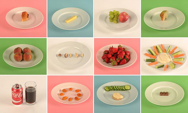 We reveal what 100 calories looks like in snacks