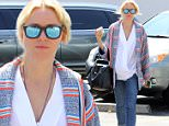 Brentwood, CA - A carefree Naomi Watts steps out and visits the Brentwood Country Mart to grab lunch to start her week.  Naomi left her hair unbrushed with no regard and wore a cool pair of mirrored sunglasses for laid back Monday...AKM-GSI          May 4, 2015..To License These Photos, Please Contact :..Steve Ginsburg..(310) 505-8447..(323) 423-9397..steve@akmgsi.com..sales@akmgsi.com..or..Maria Buda..(917) 242-1505..mbuda@akmgsi.com..ginsburgspalyinc@gmail.com