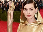 """NEW YORK, NY - MAY 04:  Anne Hathaway attends the """"China: Through The Looking Glass"""" Costume Institute Benefit Gala at the Metropolitan Museum of Art on May 4, 2015 in New York City.  (Photo by Jamie McCarthy/FilmMagic)"""