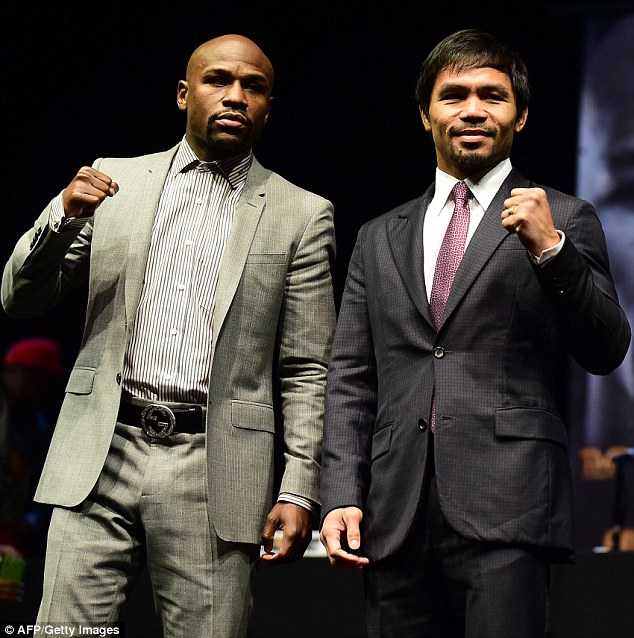 Mayweather will go head-to-head with Manny Pacquiao in the Fight of the Century at the MGM Grand on May 2