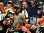 *123 > Mandatory Credit: Photo by ddp USA/REX Shutterstock (4743507y)\n Floyd Mayweather\n Floyd Mayweather Vs Manny Pacquiao, Welterweight Boxing championship, Las Vegas, America - 02 May 2015\n \n