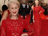 """NEW YORK, NY - MAY 04:  Helen Mirren attends the """"China: Through The Looking Glass"""" Costume Institute Benefit Gala at the Metropolitan Museum of Art on May 4, 2015 in New York City.  (Photo by Larry Busacca/Getty Images)"""