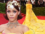 """NEW YORK, NY - MAY 04:  Rihanna attends the """"China: Through The Looking Glass"""" Costume Institute Benefit Gala at the Metropolitan Museum of Art on May 4, 2015 in New York City.  (Photo by Larry Busacca/Getty Images)"""