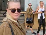 Please contact X17 before any use of these exclusive photos - x17@x17agency.com   Pregnant Ashlee Simpson leaves the gym looking a little flushed after an afternoon workout with hubby Evan Ross. May 4, 2015 X17online.com EXCLUSIVE